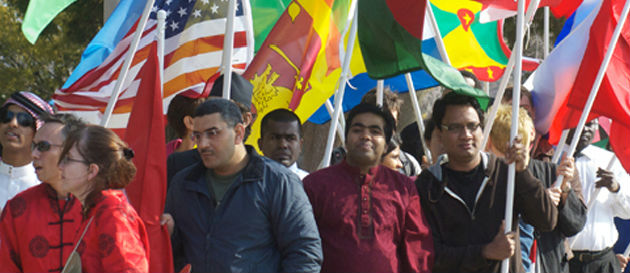 students at international day