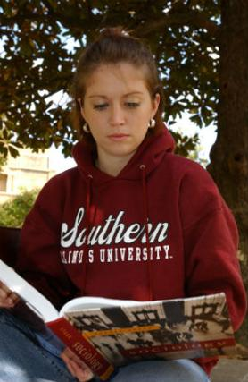 student with sociology book
